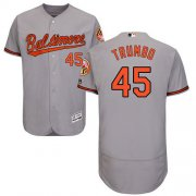 Wholesale Cheap Orioles #45 Mark Trumbo Grey Flexbase Authentic Collection Stitched MLB Jersey