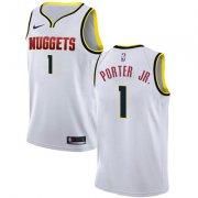 Wholesale Cheap Nike Denver Nuggets #1 Michael Porter Jr. White NBA Swingman Association Edition Jersey
