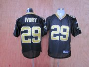 Wholesale Cheap Saints #29 Christopher Ivory Black Stitched Throwback NFL Jersey