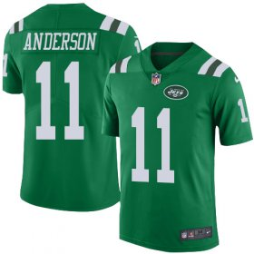 Wholesale Cheap Nike Jets #11 Robby Anderson Green Youth Stitched NFL Limited Rush Jersey