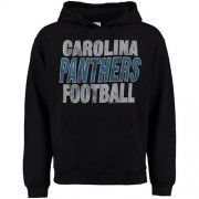 Wholesale Cheap Carolina Panthers Junk Food Kickoff Pullover Hoodie Black