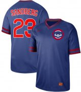 Wholesale Cheap Nike Cubs #23 Ryne Sandberg Royal Authentic Cooperstown Collection Stitched MLB Jersey