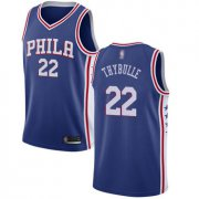 Wholesale Cheap 76ers #22 Mattise Thybulle Blue Basketball Swingman Icon Edition Jersey