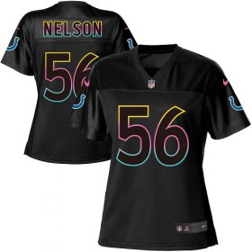 Wholesale Cheap Nike Colts #56 Quenton Nelson Black Women\'s NFL Fashion Game Jersey