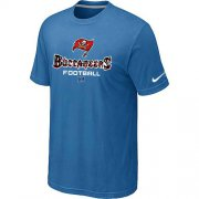 Wholesale Cheap Nike Tampa Bay Buccaneers Critical Victory NFL T-Shirt Light Blue