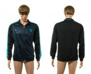 Wholesale Cheap Manchester City Soccer Jackets Black