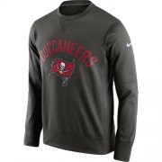 Wholesale Cheap Men's Tampa Bay Buccaneers Nike Pewter Sideline Circuit Performance Sweatshirt