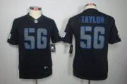 Wholesale Cheap Nike Giants #56 Lawrence Taylor Black Impact Youth Stitched NFL Limited Jersey