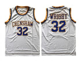 Wholesale Cheap Crenshaw Love And Baskeball 32 Monica Wright White Stitched Movie Jersey