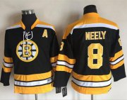 Wholesale Cheap Bruins #8 Cam Neely Black CCM Youth Stitched NHL Jersey