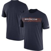 Wholesale Cheap Denver Broncos Nike Sideline Seismic Legend Performance T-Shirt Navy