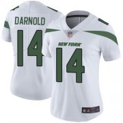 Wholesale Cheap Nike Jets #14 Sam Darnold White Women's Stitched NFL Vapor Untouchable Limited Jersey