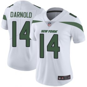 Wholesale Cheap Nike Jets #14 Sam Darnold White Women\'s Stitched NFL Vapor Untouchable Limited Jersey