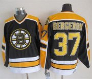 Wholesale Cheap Bruins #37 Patrice Bergeron Black CCM Throwback New Stitched NHL Jersey