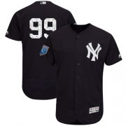 Wholesale Cheap Yankees #99 Aaron Judge Navy Blue 2018 Spring Training Authentic Flex Base Stitched MLB Jersey