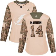 Cheap Adidas Lightning #14 Pat Maroon Camo Authentic 2017 Veterans Day Women's Stitched NHL Jersey
