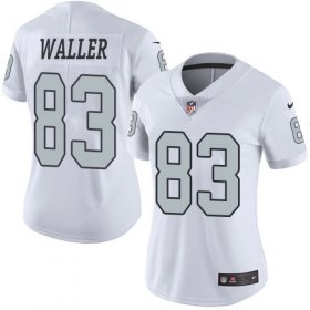 Wholesale Cheap Nike Raiders #83 Darren Waller White Women\'s Stitched NFL Limited Rush Jersey