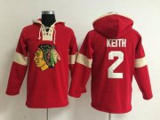 Wholesale Cheap Chicago Blackhawks #2 Duncan Keith Red Pullover NHL Hoodie