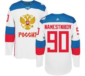 Wholesale Cheap Team Russia #90 Vladislav Namestnikov White 2016 World Cup Stitched NHL Jersey