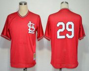 Wholesale Cheap Mitchell And Ness Cardinals #29 Vince Coleman Red Throwback Stitched MLB Jersey