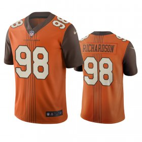 Wholesale Cheap Cleveland Browns #98 Sheldon Richardson Brown Vapor Limited City Edition NFL Jersey
