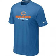 Wholesale Cheap Nike Chicago Bears Critical Victory NFL T-Shirt Light Blue