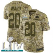Wholesale Cheap Nike 49ers #20 Jimmie Ward Camo Super Bowl LIV 2020 Men's Stitched NFL Limited 2018 Salute To Service Jersey