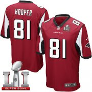 Wholesale Cheap Nike Falcons #81 Austin Hooper Red Team Color Super Bowl LI 51 Youth Stitched NFL Elite Jersey