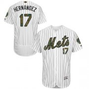 Wholesale Cheap Mets #17 Keith Hernandez White(Blue Strip) Flexbase Authentic Collection Memorial Day Stitched MLB Jersey