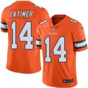 Wholesale Cheap Nike Broncos #14 Cody Latimer Orange Men's Stitched NFL Limited Rush Jersey