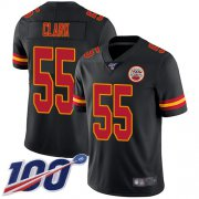 Wholesale Cheap Nike Chiefs #55 Frank Clark Black Men's Stitched NFL Limited Rush 100th Season Jersey