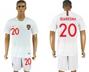 Wholesale Cheap Portugal #20 Quaresma Away Soccer Country Jersey
