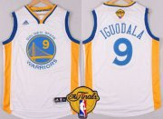 Wholesale Cheap Golden State Warriors #9 Andre Iguodala 2015 The Finals New White Jersey
