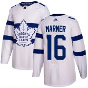 Wholesale Cheap Adidas Maple Leafs #16 Mitchell Marner White Authentic 2018 Stadium Series Stitched Youth NHL Jersey