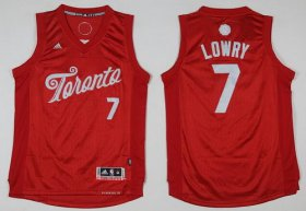 Wholesale Cheap Men\'s Toronto Raptors #7 Kyle Lowry adidas Red 2016 Christmas Day Stitched NBA Swingman Jersey