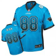 Wholesale Cheap Nike Panthers #88 Greg Olsen Blue Alternate Men's Stitched NFL Elite Drift Fashion Jersey