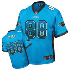 Wholesale Cheap Nike Panthers #88 Greg Olsen Blue Alternate Men\'s Stitched NFL Elite Drift Fashion Jersey