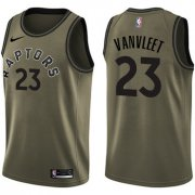 Wholesale Cheap Nike Toronto Raptors #23 Fred VanVleet Green Salute to Service NBA Swingman Jersey