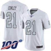 Wholesale Cheap Nike Raiders #21 Gareon Conley White Men's Stitched NFL Limited Rush 100th Season Jersey