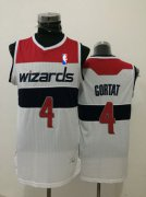 Wholesale Cheap Men's Washington Wizards #4 Marcin Gortat White Swingman Jersey