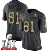Wholesale Cheap Nike Falcons #81 Austin Hooper Black Super Bowl LI 51 Youth Stitched NFL Limited 2016 Salute to Service Jersey