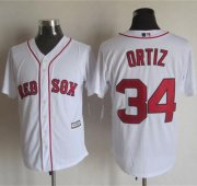 Wholesale Cheap Red sox #34 David Ortiz White New Cool Base Stitched MLB Jersey