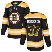 Wholesale Cheap Adidas Bruins #37 Patrice Bergeron Black Home Authentic Drift Fashion Stanley Cup Final Bound Stitched NHL Jersey