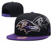Wholesale Cheap NFL Baltimore Ravens Flock Black Adjustable Hat