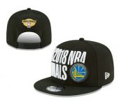 Wholesale Cheap Men's Golden State Warriors 2018 The NBA Finals Patch Snapback Ajustable Cap Hat