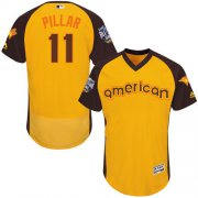 Wholesale Cheap Blue Jays #11 Kevin Pillar Gold Flexbase Authentic Collection 2016 All-Star American League Stitched MLB Jersey