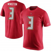 Wholesale Cheap Tampa Bay Buccaneers #3 Jameis Winston Nike Player Pride Name & Number T-Shirt Red