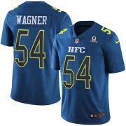 Wholesale Cheap Nike Seahawks #54 Bobby Wagner Navy Men's Stitched NFL Limited NFC 2017 Pro Bowl Jersey