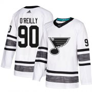 Wholesale Cheap Adidas Blues #90 Ryan O'Reilly White Authentic 2019 All-Star Stitched NHL Jersey