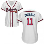 Wholesale Cheap Braves #11 Ender Inciarte White Home Women's Stitched MLB Jersey